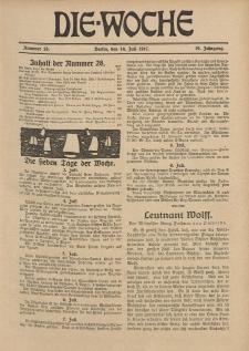 Die Woche : Moderne illustrierte Zeitschrift, 19. Jahrgang, 14. Juli 1917, Nr 28