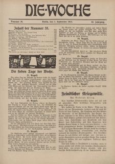 Die Woche : Moderne illustrierte Zeitschrift, 19. Jahrgang, 1. September 1917, Nr 35