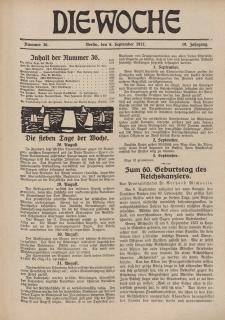 Die Woche : Moderne illustrierte Zeitschrift, 19. Jahrgang, 8. September 1917, Nr 36