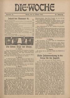 Die Woche : Moderne illustrierte Zeitschrift, 19. Jahrgang, 13. Oktober 1917, Nr 41