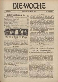 Die Woche : Moderne illustrierte Zeitschrift, 19. Jahrgang, 20. Oktober 1917, Nr 42