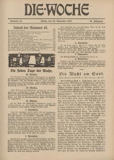 Die Woche : Moderne illustrierte Zeitschrift, 19. Jahrgang, 10. November 1917, Nr 45