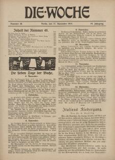 Die Woche : Moderne illustrierte Zeitschrift, 19. Jahrgang, 17. November 1917, Nr 46