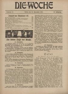 Die Woche : Moderne illustrierte Zeitschrift, 19. Jahrgang, 24. November 1917, Nr 47