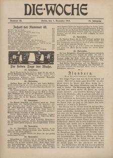 Die Woche : Moderne illustrierte Zeitschrift, 19. Jahrgang, 1. Dezember 1917, Nr 48