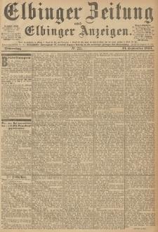 Elbinger Zeitung und Elbinger Anzeigen, Nr. 215 Donnerstag 13. September 1894