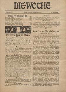 Die Woche : Moderne illustrierte Zeitschrift, 19. Jahrgang, 15. Dezember 1917, Nr 50
