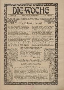 Die Woche : Moderne illustrierte Zeitschrift, 19. Jahrgang, 22. Dezember 1917, Nr 51