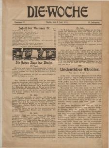 Die Woche : Moderne illustrierte Zeitschrift, 17. Jahrgang, 3. Juli 1915, Nr 27