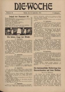 Die Woche : Moderne illustrierte Zeitschrift, 17. Jahrgang, 25. September 1915, Nr 39
