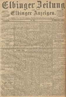 Elbinger Zeitung und Elbinger Anzeigen, Nr. 217 Sonnabend 15. September 1894