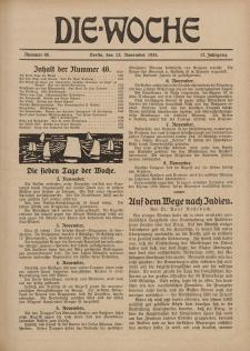 Die Woche : Moderne illustrierte Zeitschrift, 17. Jahrgang, 13. November 1915, Nr 46