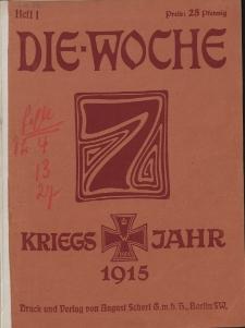 Die Woche : Moderne illustrierte Zeitschrift, 17. Jahrgang, 2. Januar 1915, Nr 1