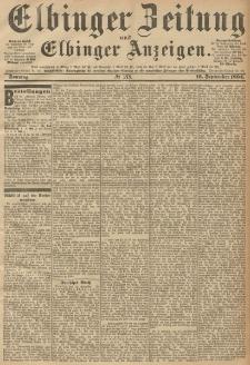 Elbinger Zeitung und Elbinger Anzeigen, Nr. 218 Sonntag 16. September 1894