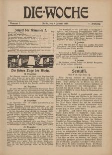Die Woche : Moderne illustrierte Zeitschrift, 17. Jahrgang, 9. Januar 1915, Nr 2