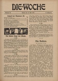 Die Woche : Moderne illustrierte Zeitschrift, 17. Jahrgang, 15. Mai 1915, Nr 20