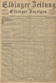 Elbinger Zeitung und Elbinger Anzeigen, Nr. 220 Mittwoch 19. September 1894