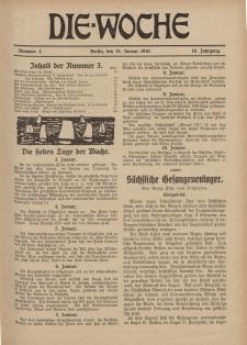 Die Woche : Moderne illustrierte Zeitschrift, 18. Jahrgang, 15. Januar 1916, Nr 3