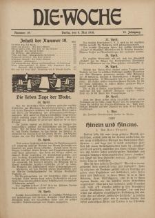 Die Woche : Moderne illustrierte Zeitschrift, 18. Jahrgang, 6. Mai 1916, Nr 19
