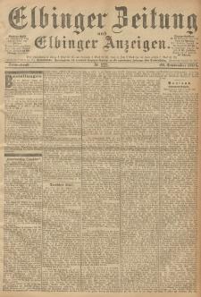 Elbinger Zeitung und Elbinger Anzeigen, Nr. 223 Sonnabend 22. September 1894