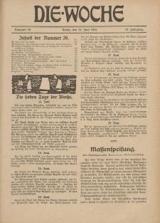 Die Woche : Moderne illustrierte Zeitschrift, 18. Jahrgang, 24. Juni 1916, Nr 26