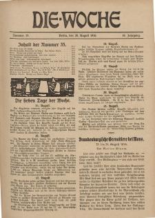 Die Woche : Moderne illustrierte Zeitschrift, 18. Jahrgang, 26. August 1916, Nr 35