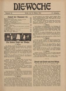 Die Woche : Moderne illustrierte Zeitschrift, 18. Jahrgang, 14. Oktober 1916, Nr 42