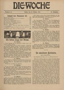 Die Woche : Moderne illustrierte Zeitschrift, 18. Jahrgang, 21. Oktober 1916, Nr 43