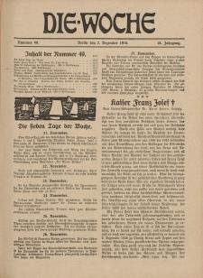 Die Woche : Moderne illustrierte Zeitschrift, 18. Jahrgang, 2. Dezember 1916, Nr 49