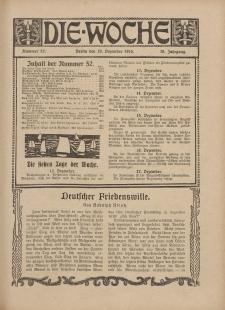 Die Woche : Moderne illustrierte Zeitschrift, 18. Jahrgang, 23. Dezember 1916, Nr 52