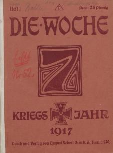 Die Woche : Moderne illustrierte Zeitschrift, 19. Jahrgang, 6. Januar 1917, Nr 1