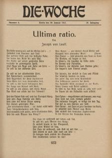 Die Woche : Moderne illustrierte Zeitschrift, 19. Jahrgang, 20. Januar 1917, Nr 3