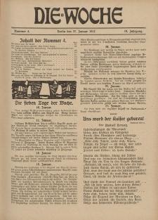 Die Woche : Moderne illustrierte Zeitschrift, 19. Jahrgang, 27. Januar 1917, Nr 4