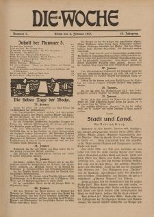 Die Woche : Moderne illustrierte Zeitschrift, 19. Jahrgang, 3. Februar 1917, Nr 5