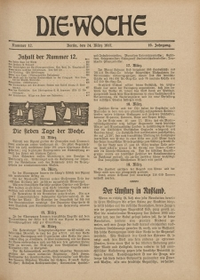 Die Woche : Moderne illustrierte Zeitschrift, 19. Jahrgang, 24. März 1917, Nr 12