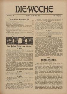 Die Woche : Moderne illustrierte Zeitschrift, 19. Jahrgang, 5. Mai 1917, Nr 18