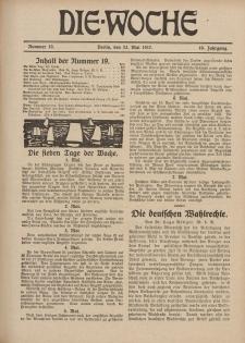 Die Woche : Moderne illustrierte Zeitschrift, 19. Jahrgang, 12. Mai 1917, Nr 19