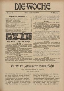 Die Woche : Moderne illustrierte Zeitschrift, 19. Jahrgang, 26. Mai 1917, Nr 21