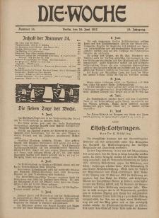 Die Woche : Moderne illustrierte Zeitschrift, 19. Jahrgang, 16. Juni 1917, Nr 24