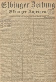 Elbinger Zeitung und Elbinger Anzeigen, Nr. 230 Sonntag 29. September 1894