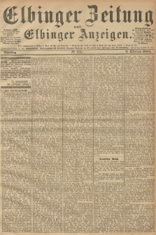 Elbinger Zeitung und Elbinger Anzeigen, Nr. 231 Dienstag 02. October 1894