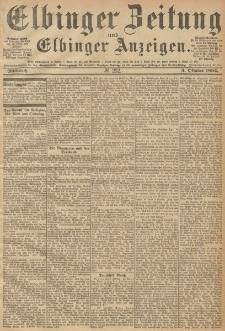 Elbinger Zeitung und Elbinger Anzeigen, Nr. 232 Mittwoch 03. October 1894
