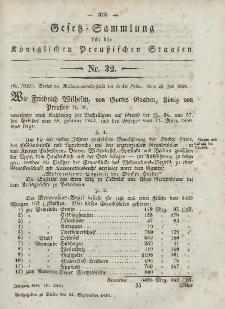 Gesetz-Sammlung für die Königlichen Preussischen Staaten, 14. September, 1850, nr. 32.