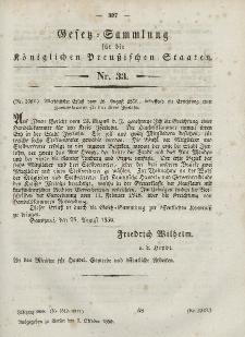 Gesetz-Sammlung für die Königlichen Preussischen Staaten, 3. Oktober, 1850, nr. 33.