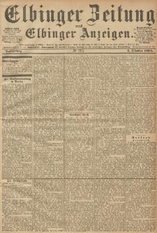 Elbinger Zeitung und Elbinger Anzeigen, Nr. 233 Donnerstag 04. October 1894