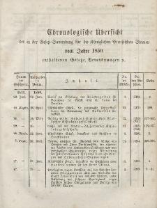 Gesetz-Sammlung für die Königlichen Preussischen Staaten (Chronologische Uebersicht), 1850