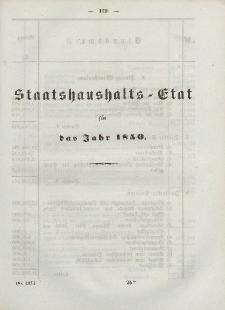 Gesetz-Sammlung für die Königlichen Preussischen Staaten, (Staatshaushalts-Etat füf das Jahr 1850)