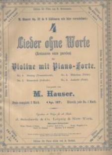 4 Lieder ohne Worte : Violine mit Piano-Forte