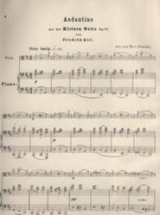 Andantino aus der kleinen Suite, Op. 77 : Viola ; Piano