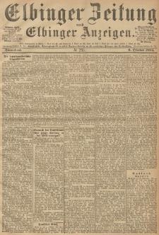 Elbinger Zeitung und Elbinger Anzeigen, Nr. 235 Sonnabend 06. October 1894